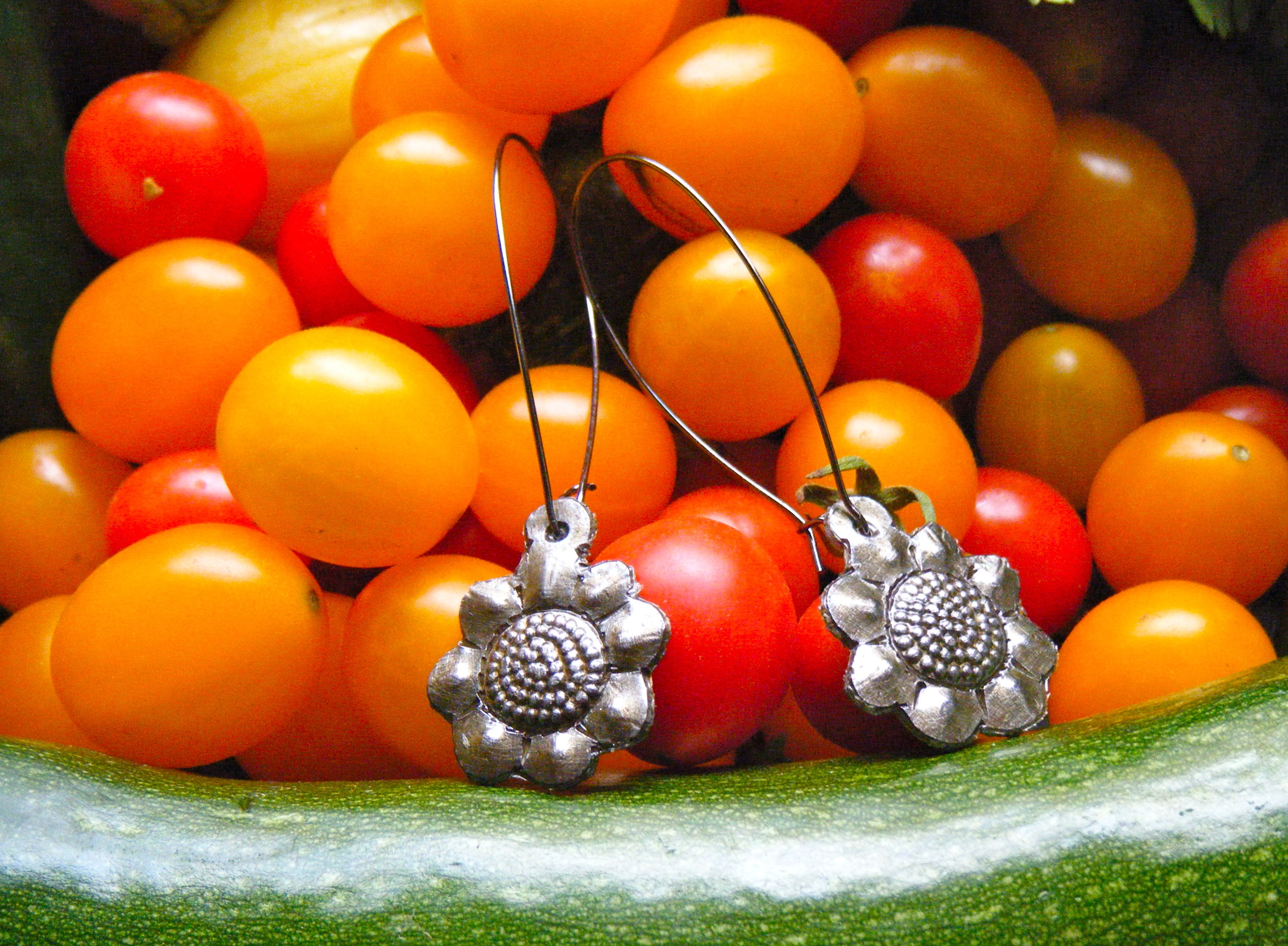 Haitian Metal Art Earrings